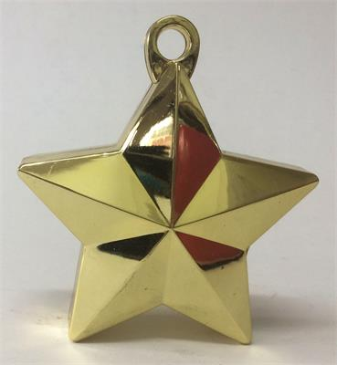 gold balloon weight star