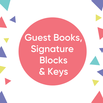 Guest Books, Signature Blocks, Keys