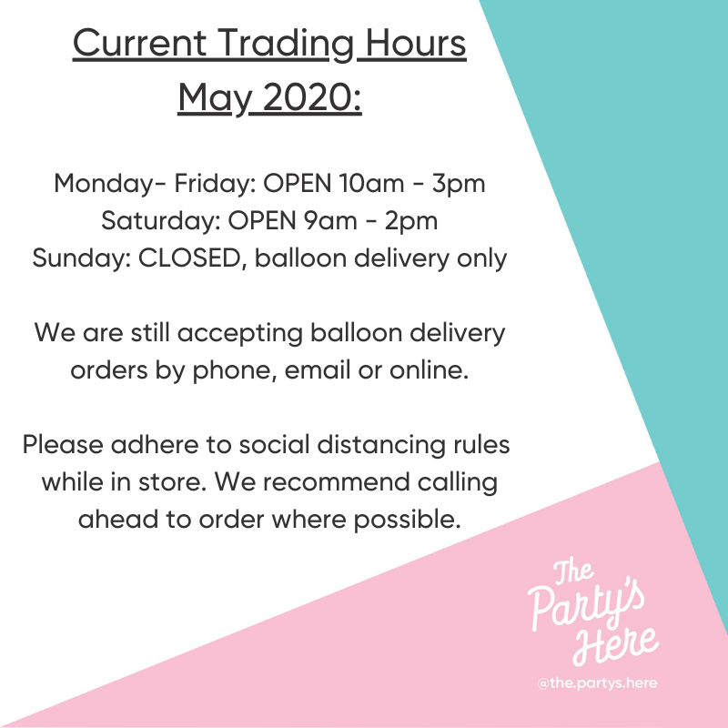 Current Trading Hours: May 2020